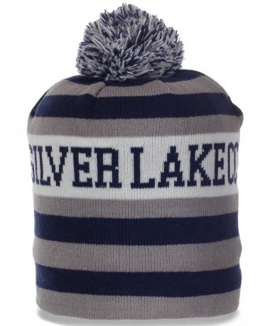 Флисовая шапочка с помпоном от Silver Lakecc