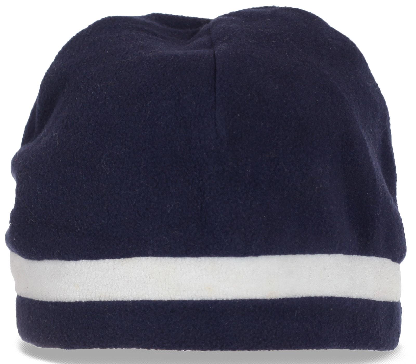 Флисовая спортивная мужская шапка