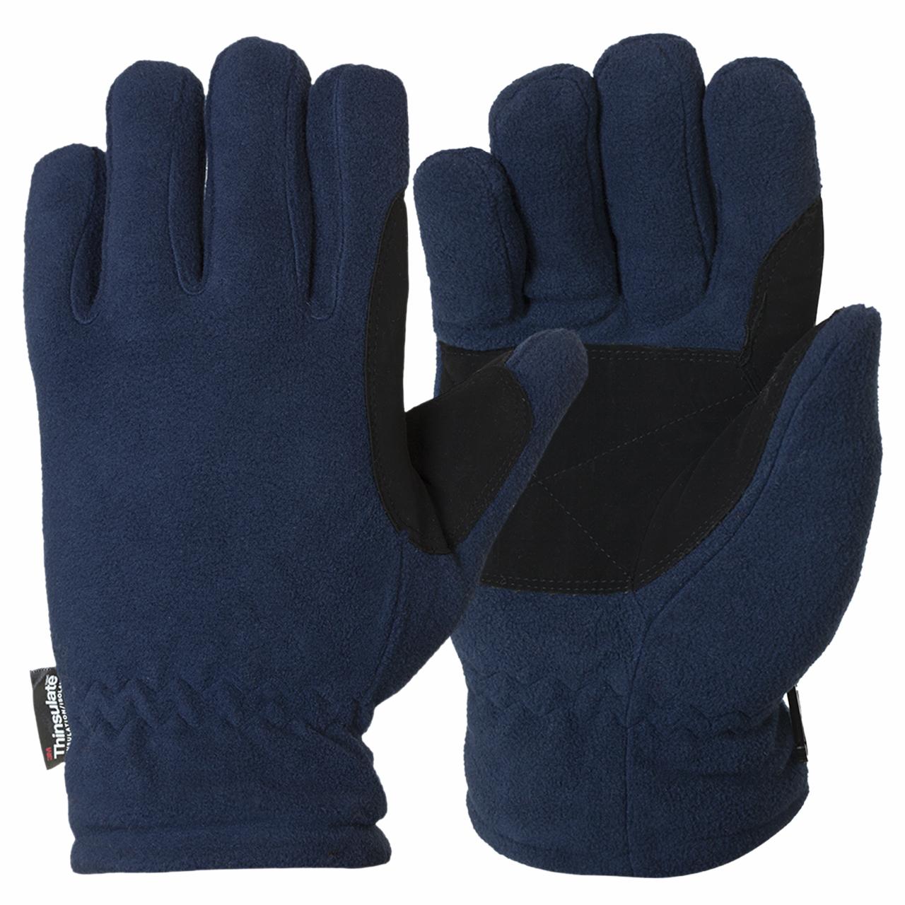 Качественные флисовые перчатки с усиленной ладонью