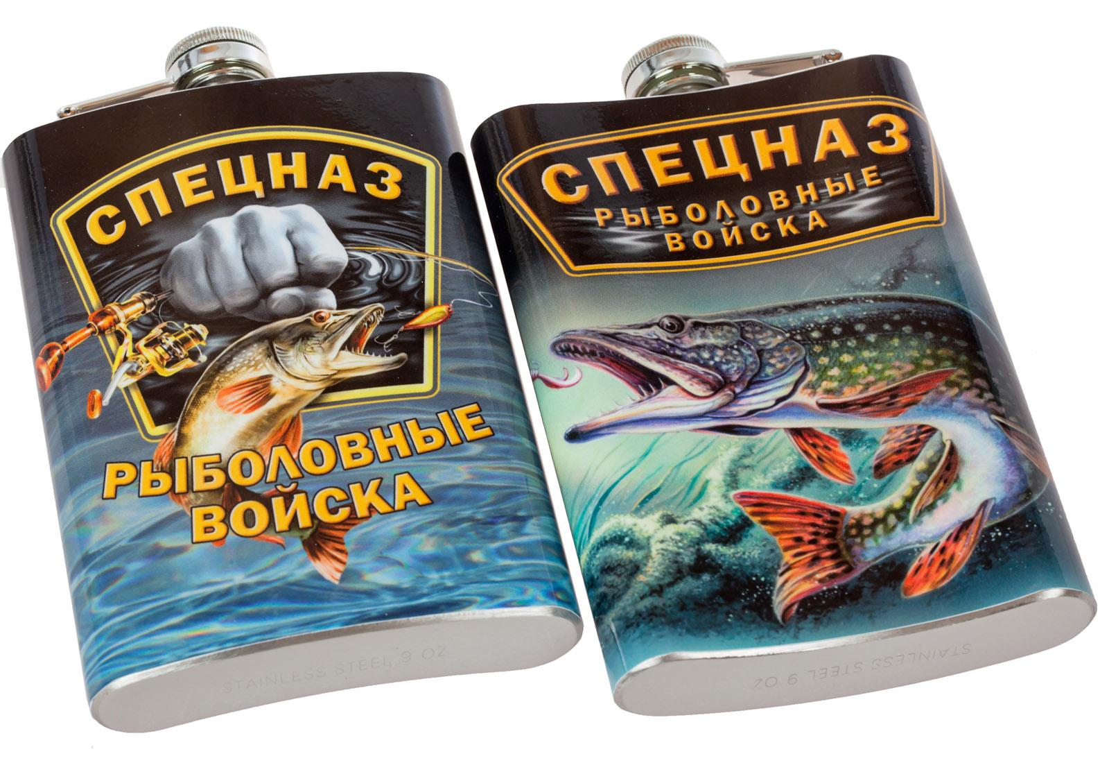 Подарочная фляга мужчине рыбаку – яркий стойкий принт