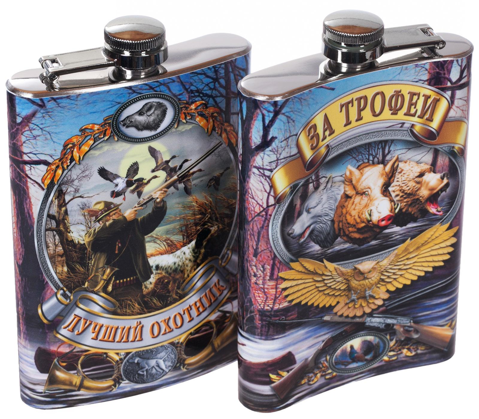 """Купить фляжку для алкоголя """"Охота"""" с доставкой по России и самовывозом"""
