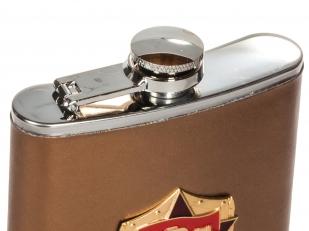 Фляжка для спиртных напитков в подарок ветерану по лучшей цене