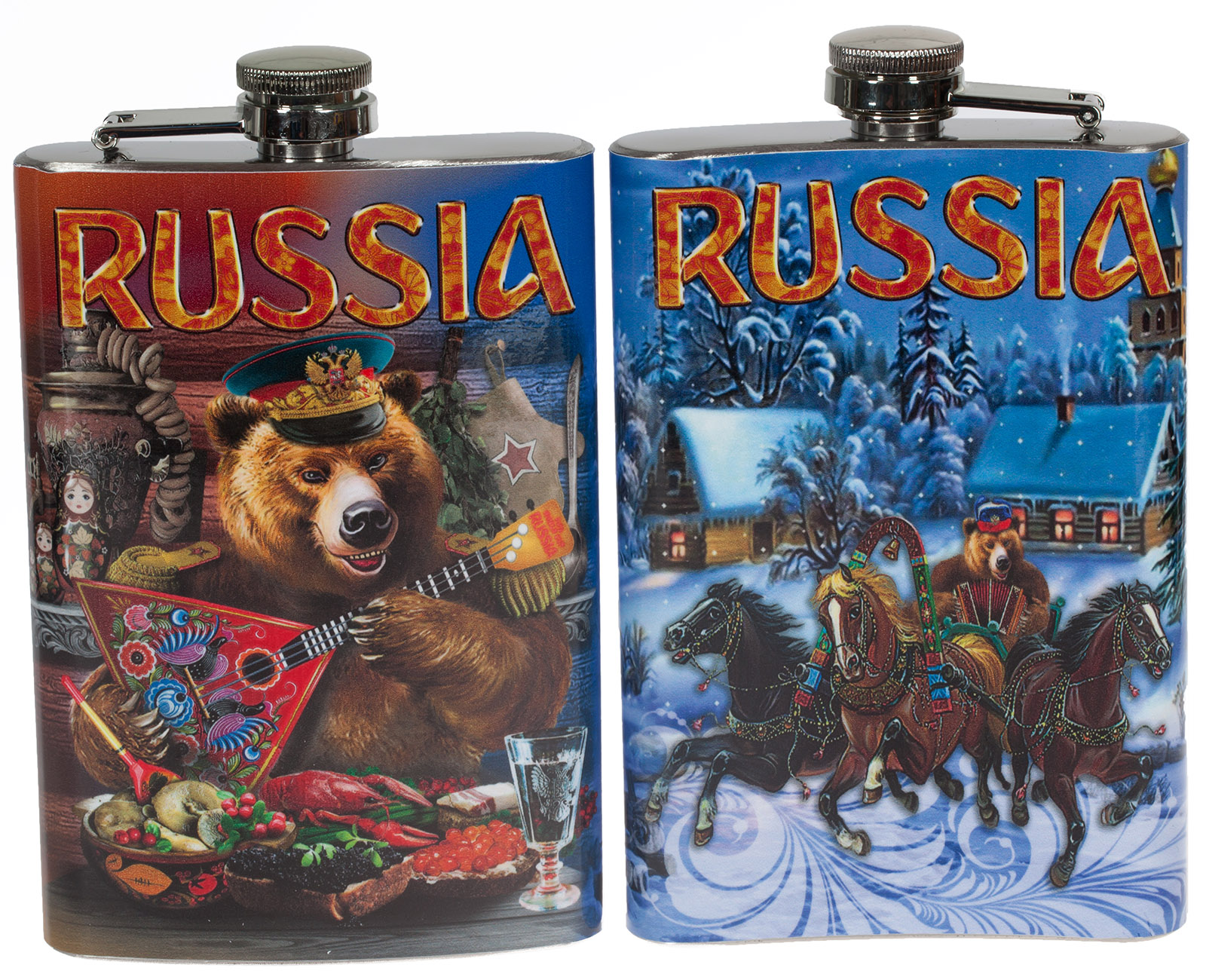 """Фляжка """"Русский медведь"""" купить по экономичной цене"""