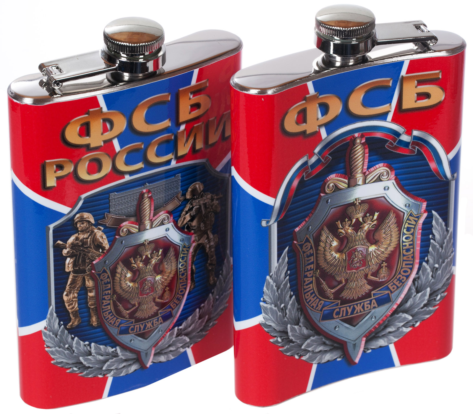 Заказать фляжку с гербом ФСБ с доставкой по России
