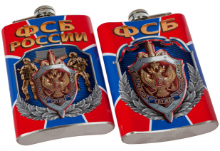 Фляжка с гербом ФСБ купить оптом и в розницу