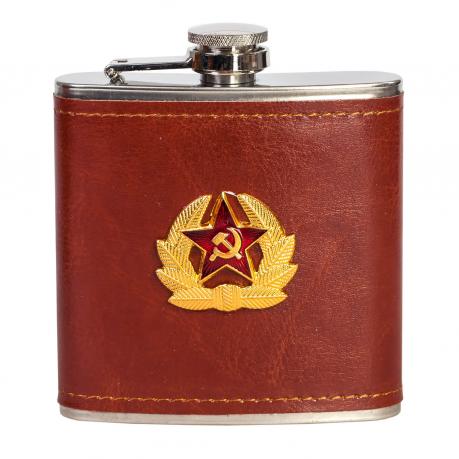 Фляжка-нержавейка с эмблемой Советской Армии.