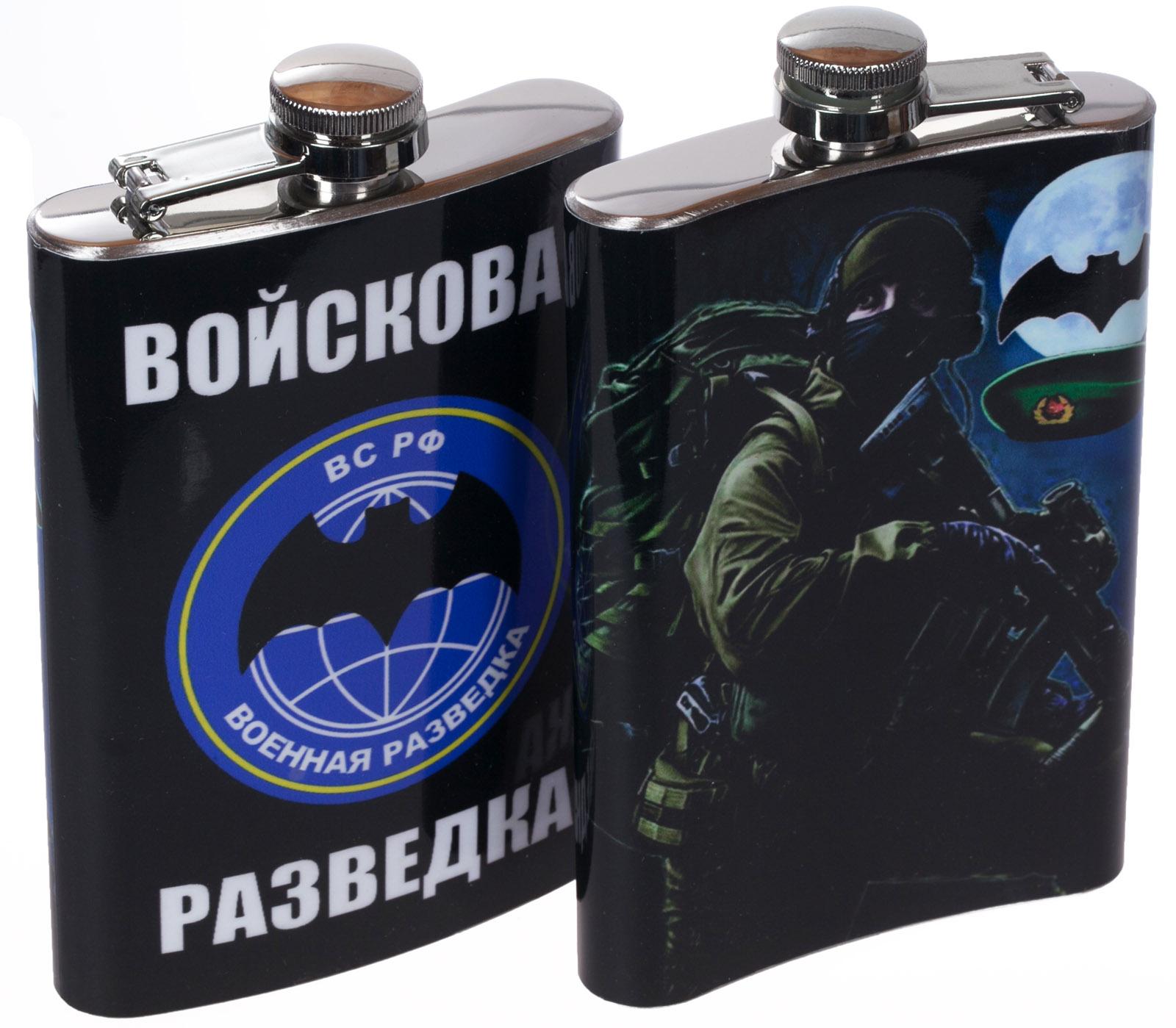 """Купить фляжку """"Войсковая разведка"""" с доставкой по России"""