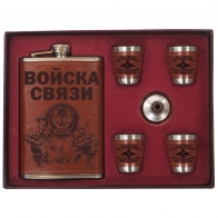 Фляга Войска связи в комплекте с воронкой и стопками