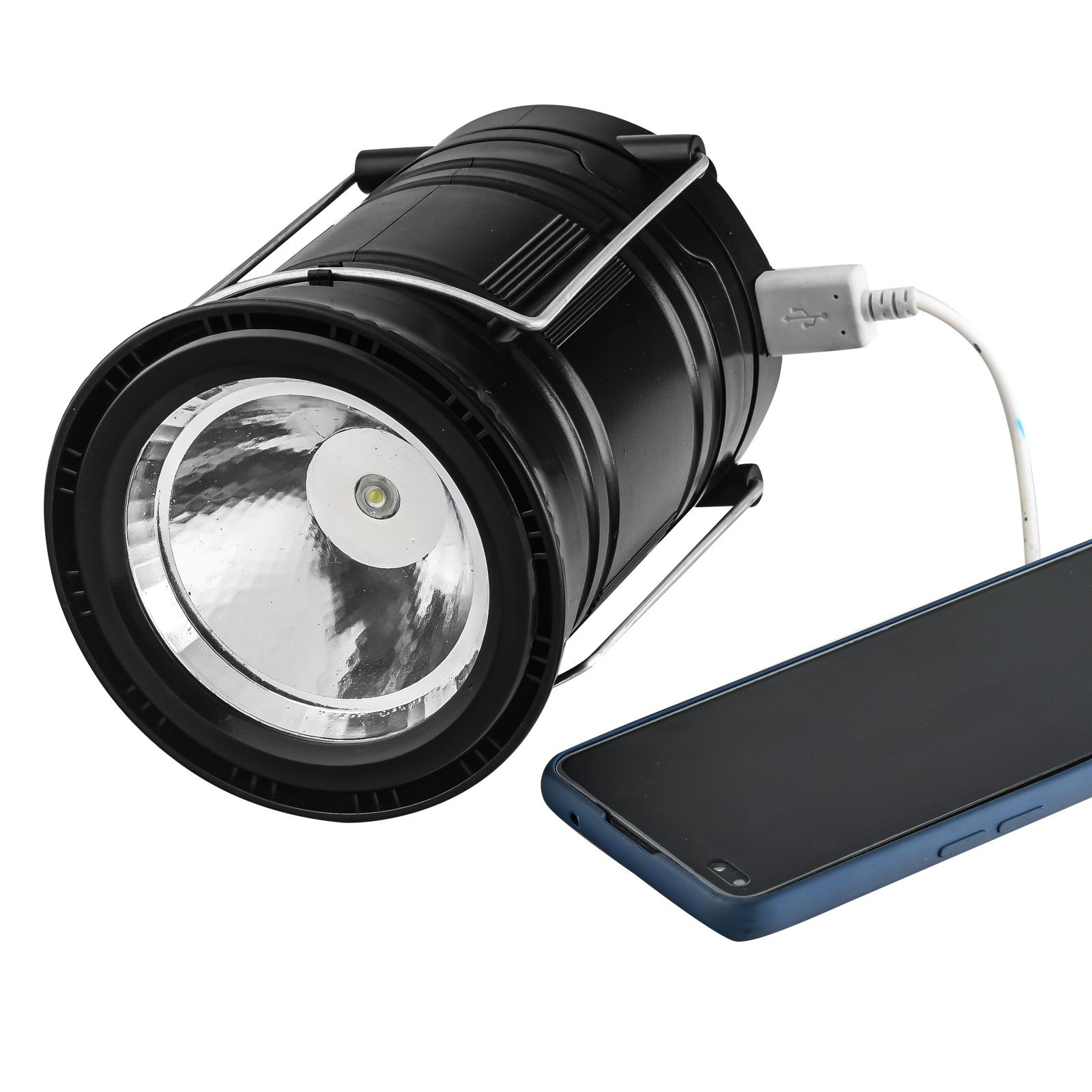 Фонарь для кемпинга с солнечной панелью 6 SMD LED