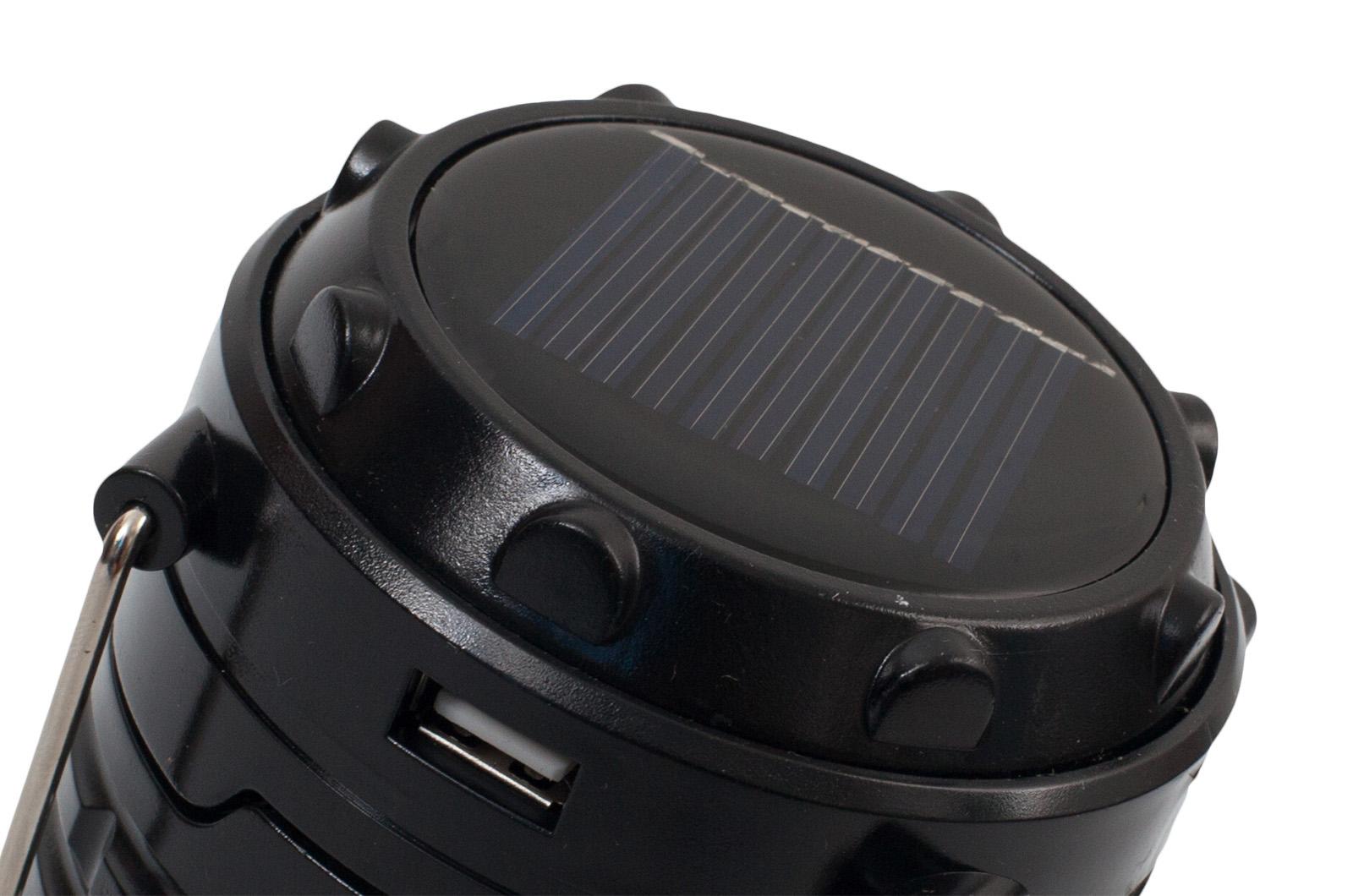 Фонарь кемпинговый светодиодный с солнечными батарейками