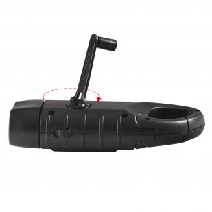 Фонарь с динамо-машиной и солнечной батареей на постапокалипсис Dynamo Solar Tac Flashlight Black