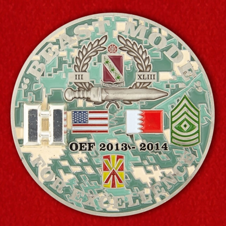 For Excellence by Bravo 3-43 ADA BN for OEF Challenge Coin