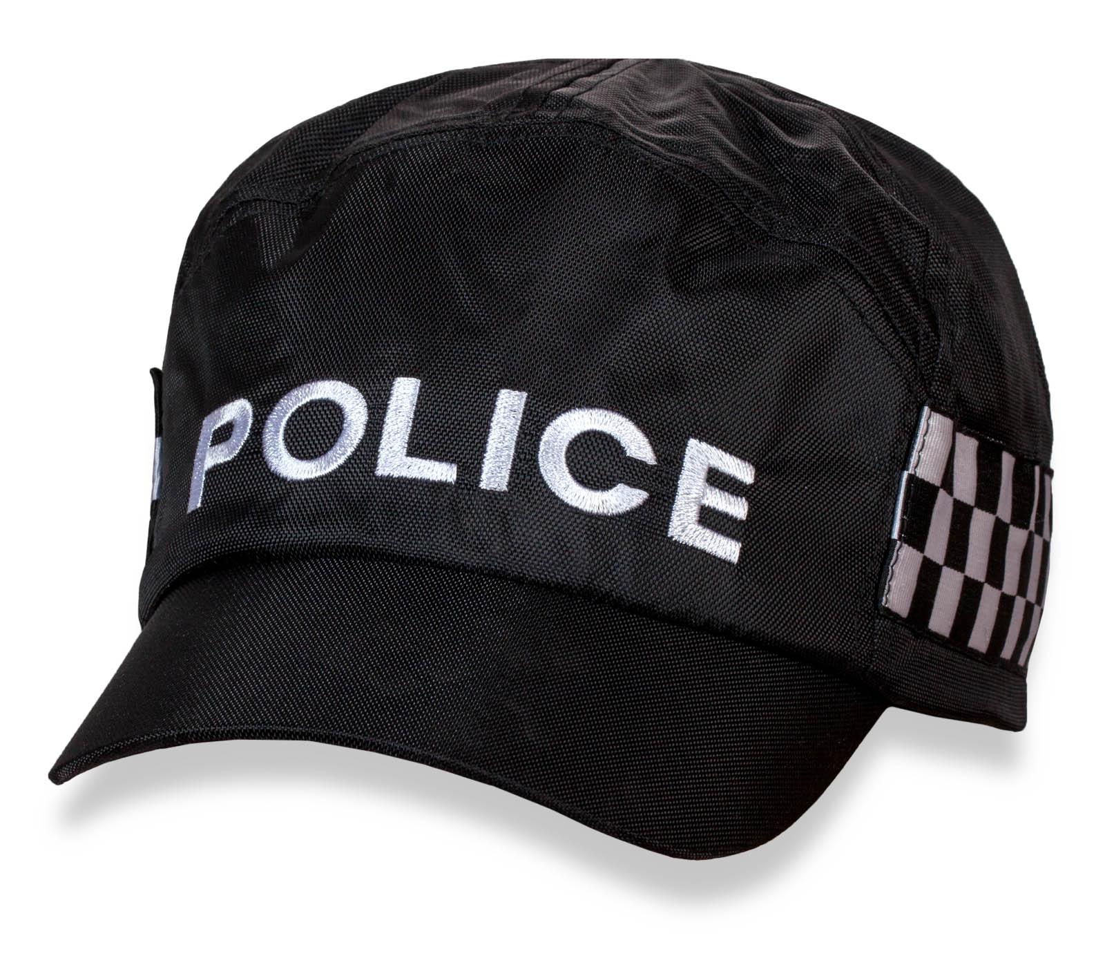 Форменная черная кепка Police