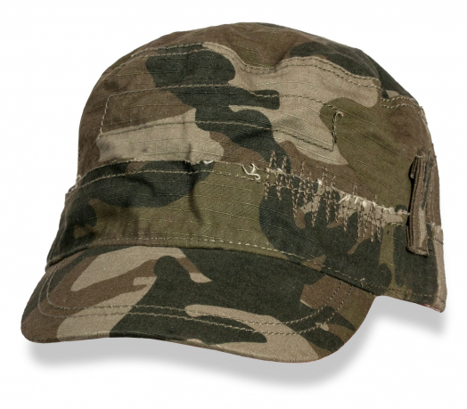 Форменная камуфляжная кепка