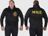 Форменная милитари толстовка с эмблемой УГРО и шевроном МВД.