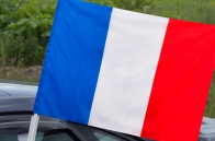 Французский флаг с кронштейном