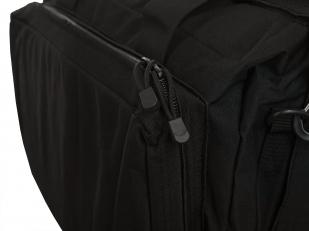Функциональная черная сумка-рюкзак с нашивкой Охотничьего спецназа купить в подарок