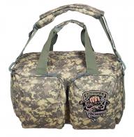 Функциональная камуфляжная сумка-рюкзак с нашивкой Рыболовного спецназа