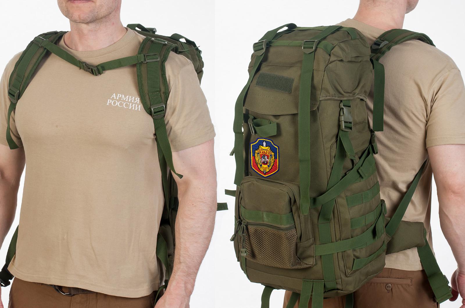 Функциональный армейский рюкзак с нашивкой УГРО - заказать в розницу