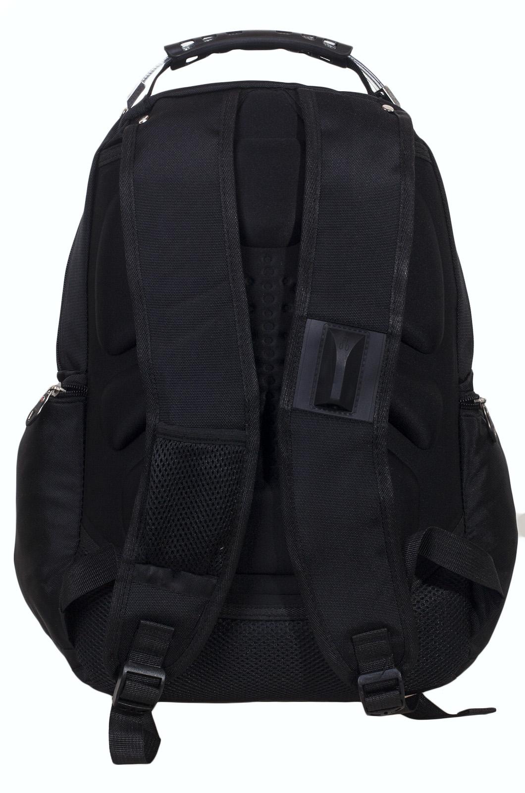 Функциональный черный рюкзак с шевроном ВМФ купить выгодно
