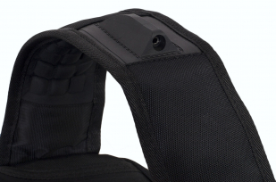 Функциональный черный рюкзак с шевроном ВМФ купить с доставкой