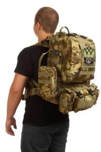 Функциональный вместительный рюкзак с нашивкой Герб России - купить в розницу