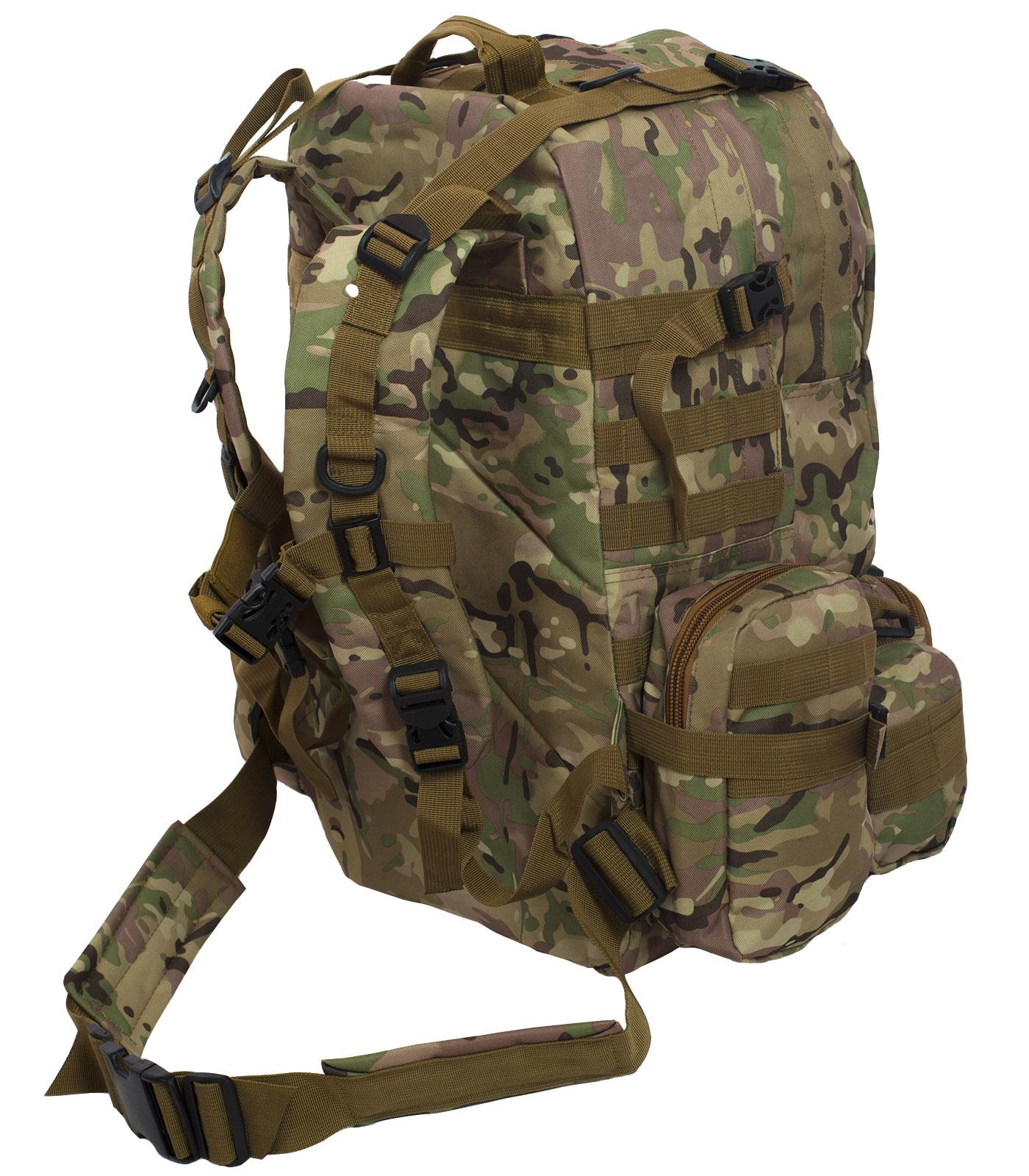 Функциональный вместительный рюкзак с нашивкой Герб России - купить по лучшей цене