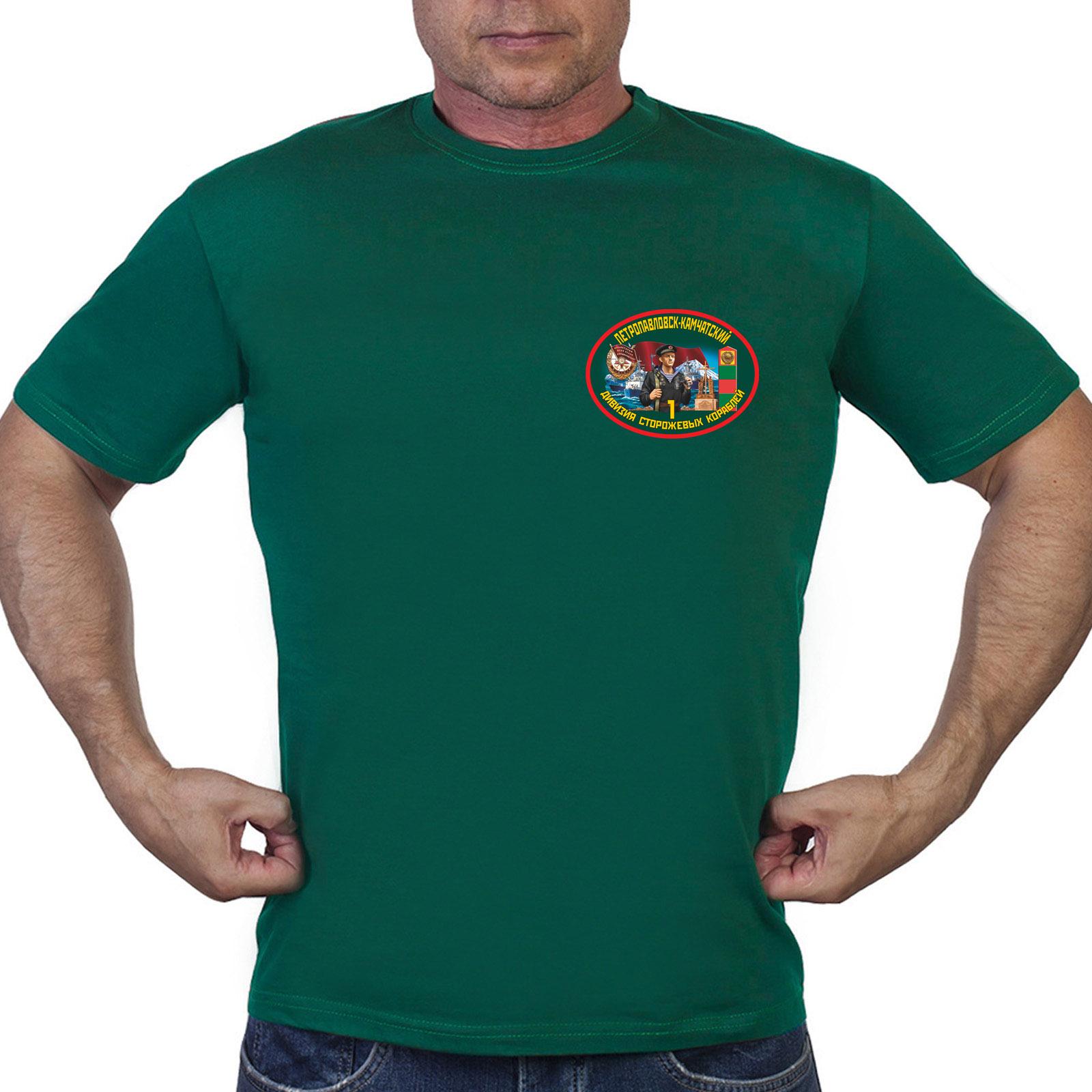 Зеленая мужская футболка 1 дивизия ПСКР Петропавловск-Камчатский