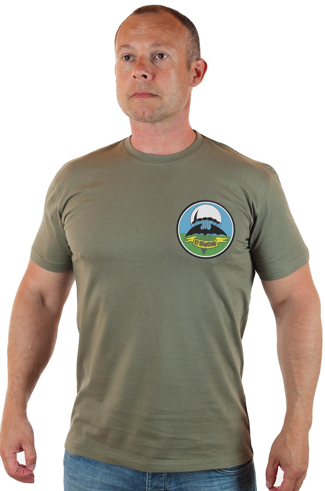 Мужские хаки футболки с эмблемой 12 ОБрСпН оптом и в розницу