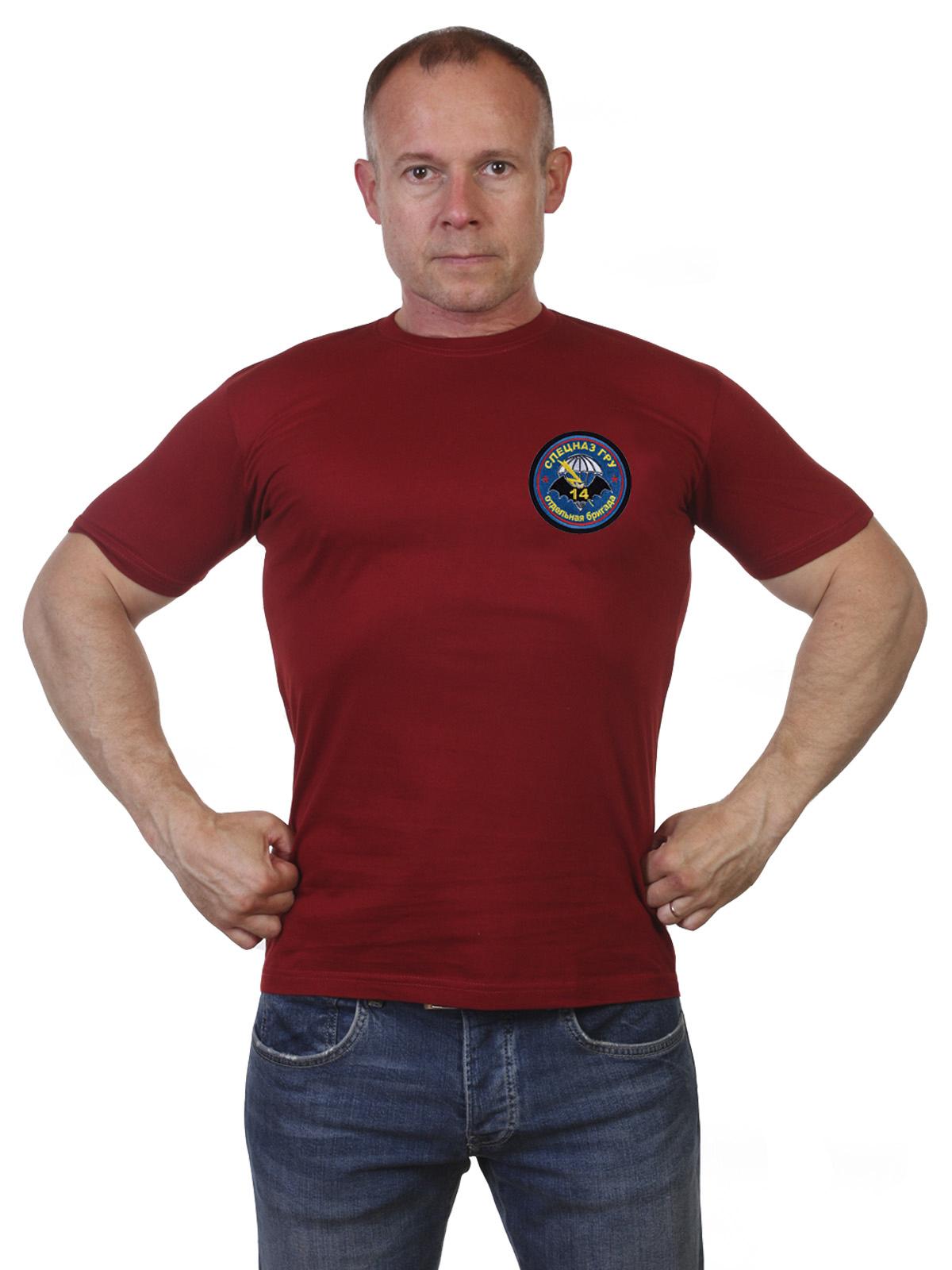 Краповая мужская футболка 14 ОБрСпН ГРУ