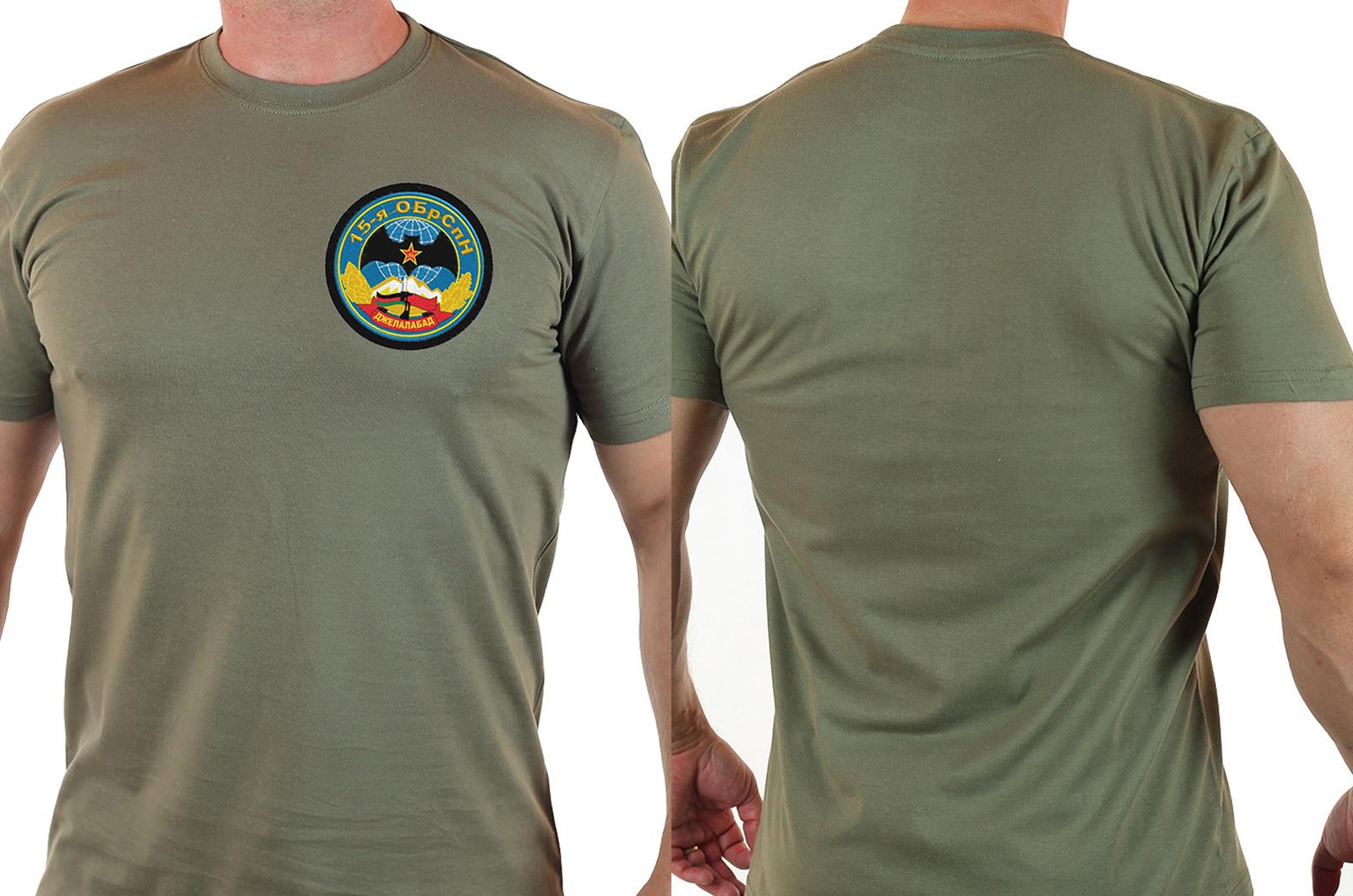 Мужская футболка с шевроном 15-я ОБрСпН Джелалабад
