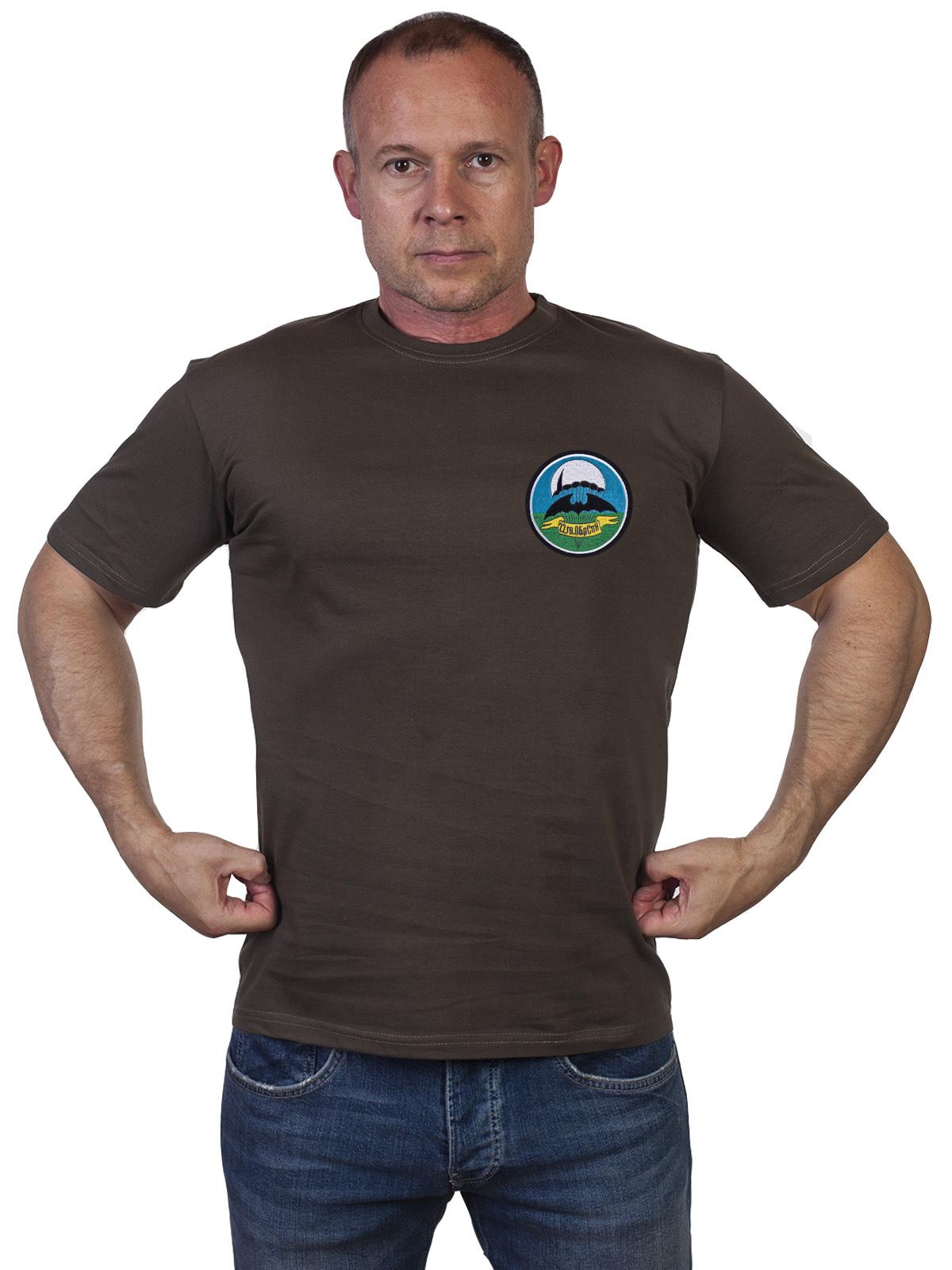 Оливковая мужская футболка 22 ОБрСпН