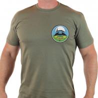 Мужская футболка милитари с вышивкой-шевроном 24 ОБрСпН ГРУ.