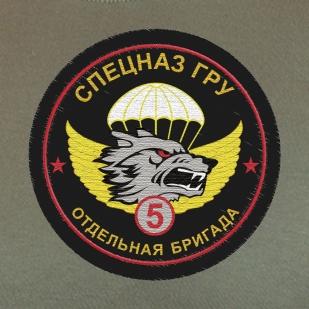 Оливковая футболка для парней из 5-ой отдельной бригады Спецназа ГРУ