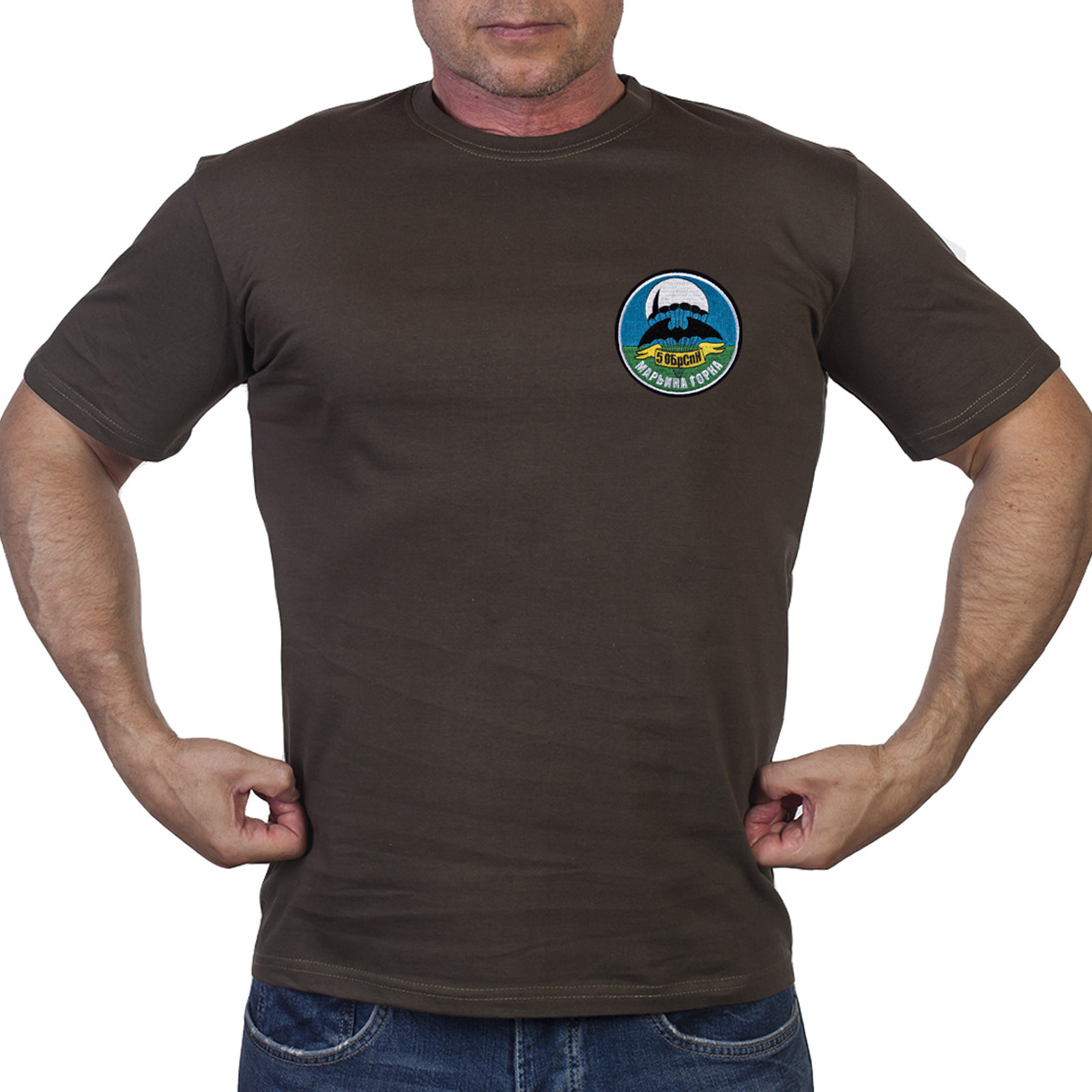 Хаки футболка 5 ОБрСпН г. Марьина Горка