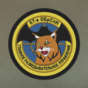 Мужская хаки футболка с шевроном 67 ОБрСпН ГРУ