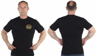Черная  футболка 69 Камень-рыболовский погранотряд