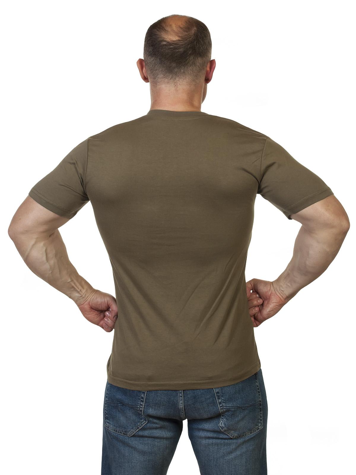 Оливковая военная футболка Армия России - купить недорого