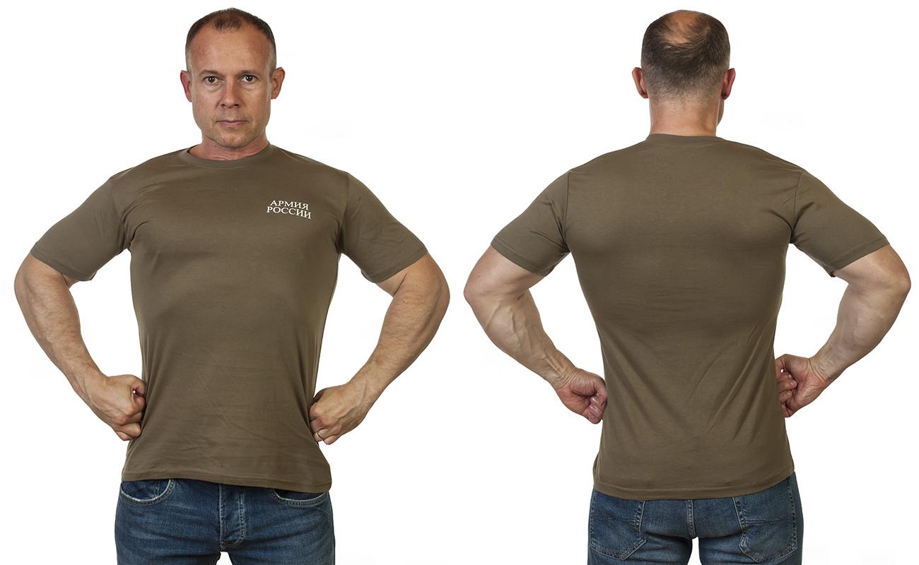 Оливковая военная футболка Армия России с доставкой