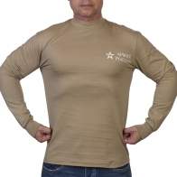 Футболка Армия России уставная с длинным рукавом