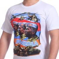 Белая футболка АРМЕНИЯ
