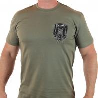 Мужская футболка с вышитой символикой спецбатальона ЛНР – ЛЕШИЙ!