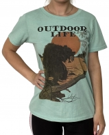 Бирюзовая женская футболка Outdoor Life.