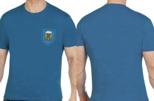 Футболка бирюзовая мужская с вышивкой 38 ОПС ВДВ - купить выгодно