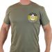 Мужская футболка с шевроном Луганской Добровольческой Бригады Деникинцы