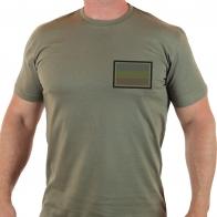 Мужская футболка с шевроном РОССИЯ