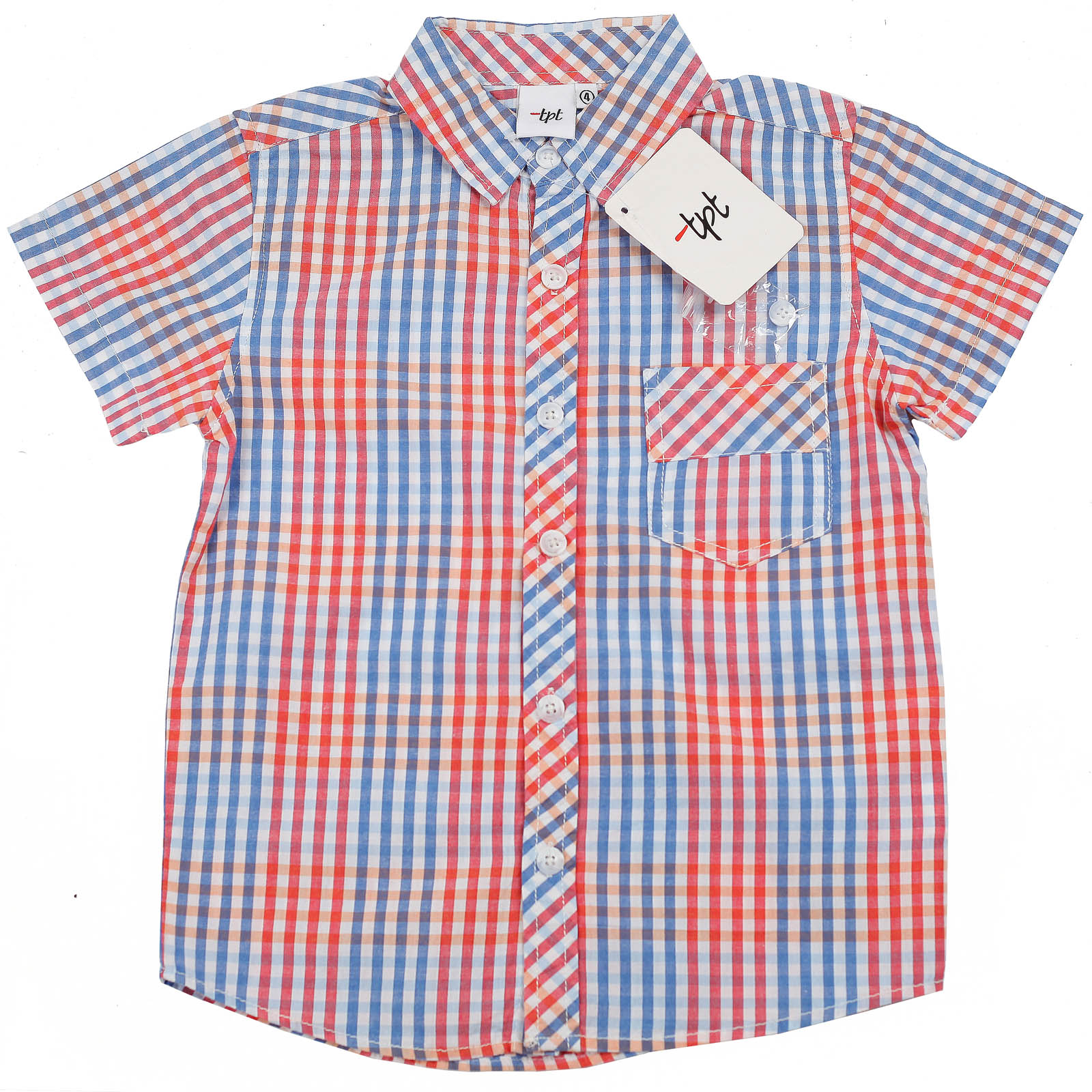 Лентняя рубашка от бренда TPL с коротким рукавом для мальчика