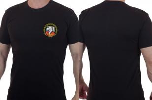 Футболка черная с вышитым шевроном 22 ОБрОН Кобра - купить по низкой цене