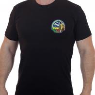 Черная футболка десантника с принтом 90 лет ВДВ