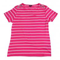 Футболка для девочки Nautica. Бело-розовая полоска, качественный хлопок